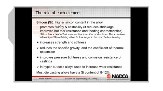 2018-04-04 – High Integrity Die Casting: Alloys for High Integrity Die Casting –  Highlight